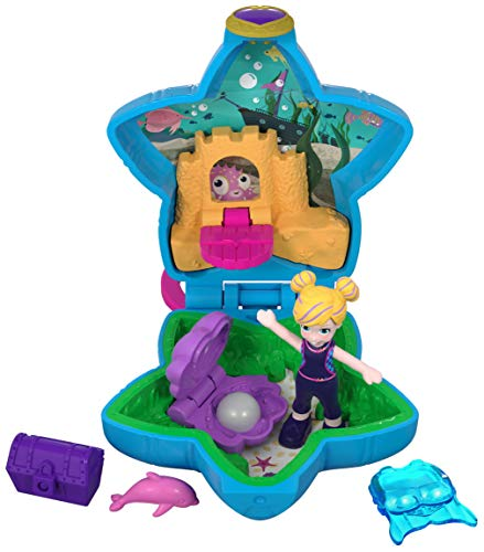 Polly Pocket FRY33 - Tiny Places Schatulle Pollys Aquarium