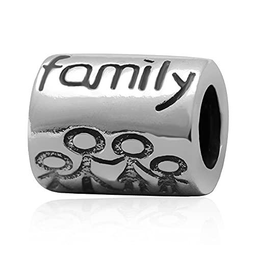 Pandora 925 plata esterlina plateada familia abalorios europeos encantos Fit Reloj Hombre brazalete Making Findings diy Love Jewelry