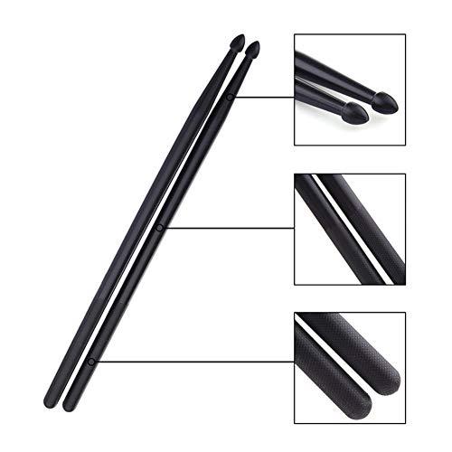 Black Drum Sticks 5a 1 Paar, Nylon Drum Stick, für Kinder, Schüler und Erwachsene