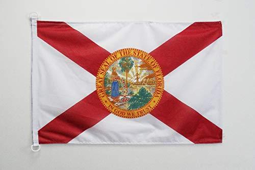 AZ FLAG Flagge Florida 90x60cm - Bundesstaat Florida Fahne 60 x 90 cm Aussenverwendung - flaggen Top Qualität