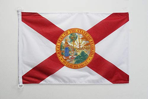 AZ FLAG BOOTFLAGGE Florida 45x30cm - Bundesstaat Florida BOOTSFAHNE 30 x 45 cm Marine flaggen Top Qualität