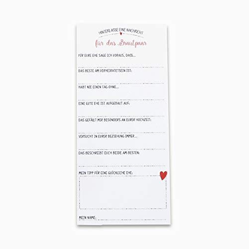 Gästebuch Hochzeit mit Fragen, Alternative 30 Karten zum Ausfüllen & einkleben in Hochzeitsalbum