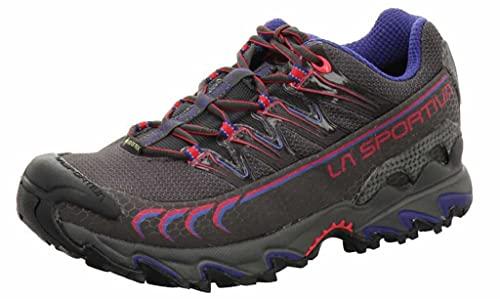 LA SPORTIVA Ultra Raptor Woman GTX, Zapatillas de Trail Running Mujer, Carbon/Love Potion, 41.5 EU