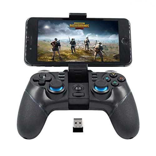 Mobile Game Controller[Upgraded Version], Bluetooth 2.4G Wireless Gamepad Joystick with USB Adapter, Perfect for Most Game - Compatible with iPhone/Android/Windows PC/PS3/TV Box