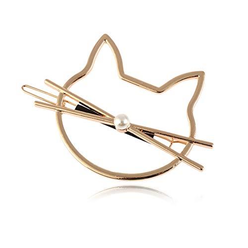 Yazilind Metalllegierung Haarspangen Klemmen Frauen Haarspangen Zubehör Tier Katze Form Haarnadeln für Mädchen Gold
