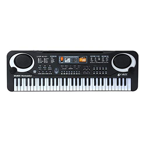 Fantastic Deal! Muslady 61 Keys Black Digital Music Electronic Keyboard Key Board Electric Piano Kid...