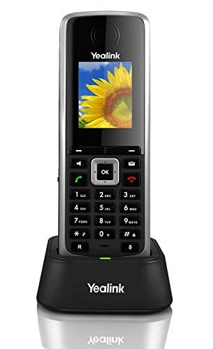 Yealink W52H Cordless DECT IP Phone, Base Station Not Included, 1.8-Inch Color Display. 10/100...