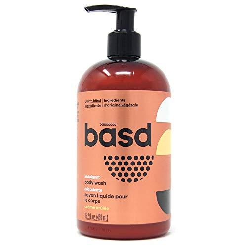 Basd Organic Moisturizing Body Wash, Indulgent Crème Brulee, Natural Skin Care, Vegan, Hypoallergenic, 15.2 Ounce Bottle