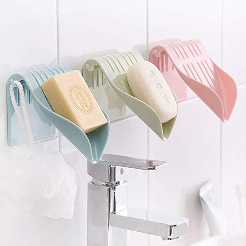 Zeep Box Drain plastic bakje zeep badhouder organisator pompen boorbehuizing vrije wand,een afmeting,wit
