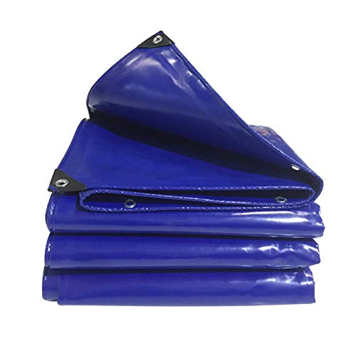Tarpaulin, Thicken Garden Furniture Covers Sun Protection Shade Rainproof Waterproof Tent Suitable for Rof/Camping/Outdoor, Customizable GHHQQZ (Color : Blue, Size : 8x10m)