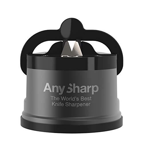 AnySharp Pro Aiguiseur Couteaux (Métal) avec Ventouse, Gris Bronze