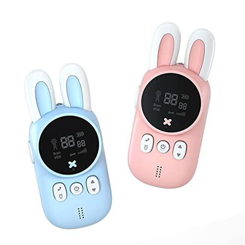 YO-HAPPY portátil de Mano para niños Walkie Talkies Juguete para niños Lindo Conejo Walkie Talk Juguetes Regalo