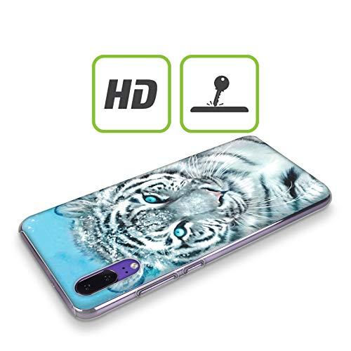 Head Case Designs Offizielle Aimee Stewart Weisser Tiger Tiere Harte Rueckseiten Huelle kompatibel mit Huawei Y360 / Y3 - 2
