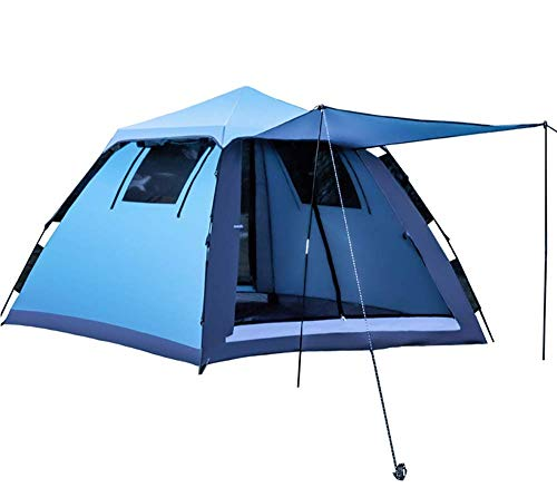 Barir Camping Tent Backpacking Tents Waterproof Dome Automatic Pop-Up Outdoor Sports Tent Camping Sun Shelters (Color : Blue)