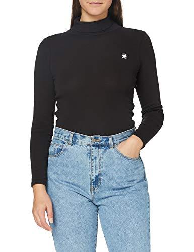 G-STAR RAW Womens Xinva Turtle Slim T-Shirt, dk Black C515-6484, XXX-Small