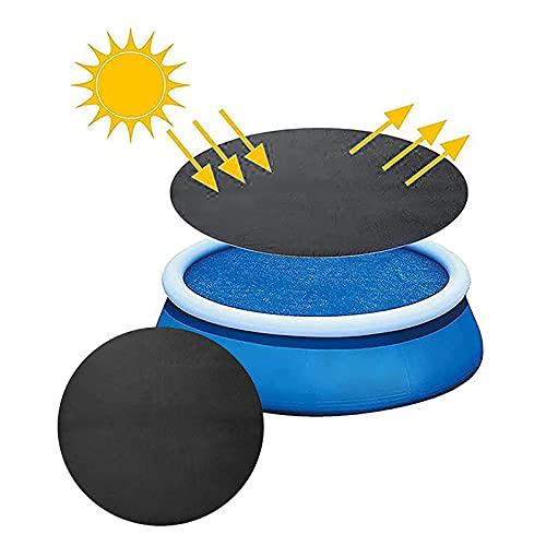 Pool Solarabdeckplane, Poolabdeckung, Solarplane Pool, Schwarz Solarfolie Poolheizung Solarplane Schwarz, Rund Solarplane Poolheizung Für Aufblasbar Family Pool (360cm)