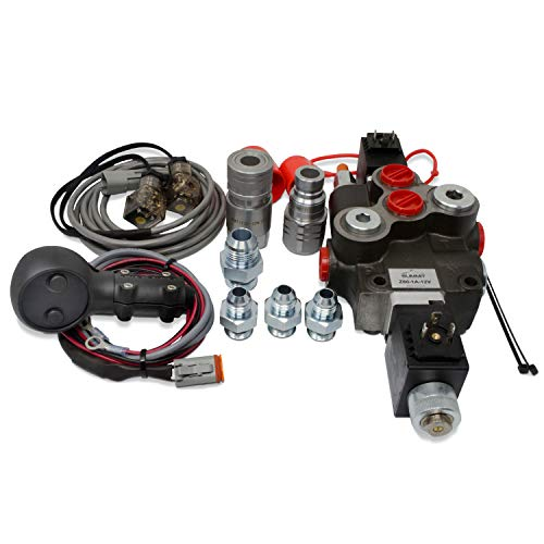 Hydraulic Third Function Valve Kit w/Joystick Handle, 21 GPM (1/2' Flat Face Couplers)