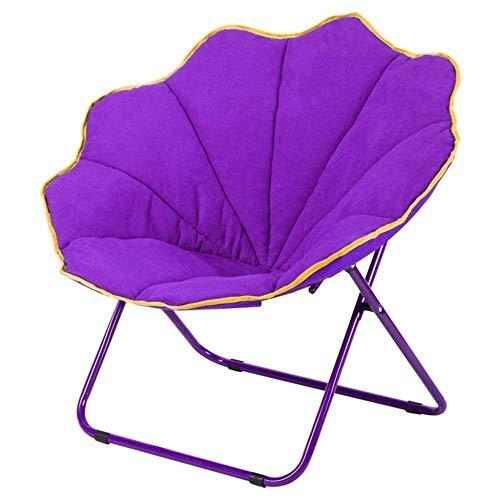 Chaise Longue Pliante, lit chaises Rondes Chaise rembourrée Douce Tissu en Daim Paresseux créatif chaises Longues Pliantes lavables