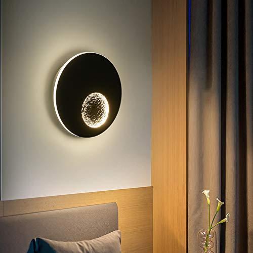 HIL 13W wandlamp Moderne Eclissi Creativa, nachtcamera, slaapkamerlamp, met ledverlichting, Scandinavische stijl, eenvoudige stijl, gang, 23 cm, wandmontage, 4,5 cm