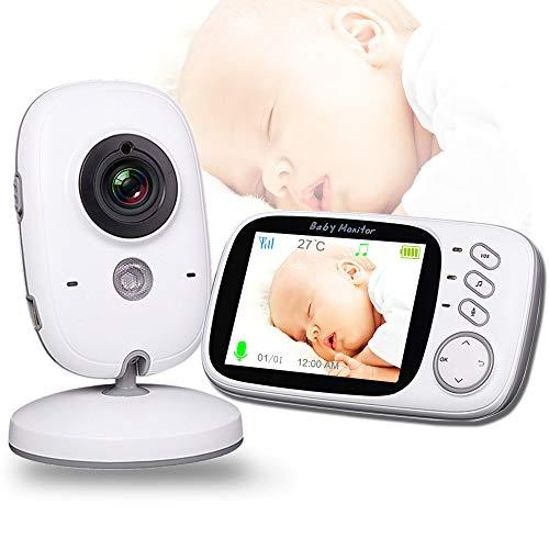 GAOYOO Moniteur Bébé avec Caméra Multifonction WiFi Baby Nanny Caméra Vidéo Surveillance Audio De La Température Bidirectionnelle Moniteur De Sommeil pour Bébé