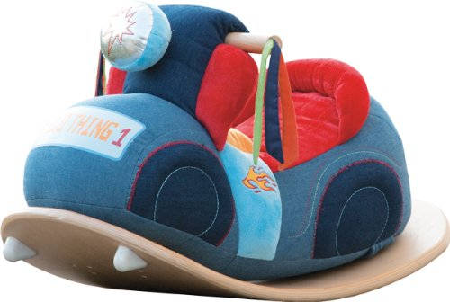 roba Schaukelmotorad, Schaukelspielzeug mit weicher Stoff-Polsterung, Schaukelsitz für Kleinkinder ab 18 Monate