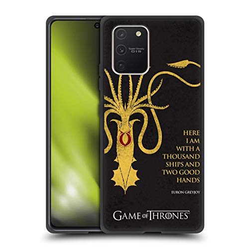 Head Case Designs Officially Licensed HBO Game of Thrones Euron Greyjoy Kraken Graphics Skinny Fit Hybrid Iced Case Compatible with Samsung Galaxy S10 Lite