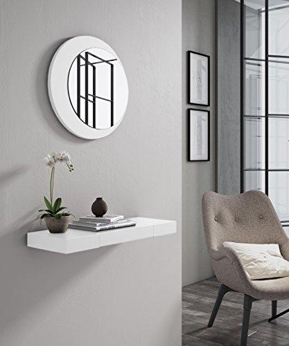 SLAAP - Recibidor Consola Lacado Blanco (EL Espejo SE Vende por Separado) Medidas: 60ancho x5alto x22 Fondo