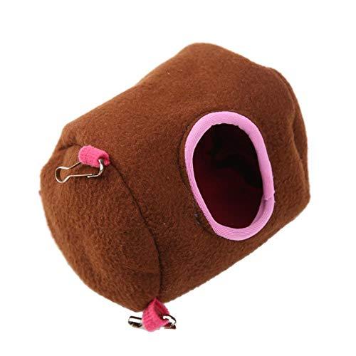 WKH Coton Pet Dog House Hamac Suspendus Lits d'arbre Forme Arquée Chiot Chien Chat Vivant Nid Maison pour Rat Hamster Écureuil, Marron, L