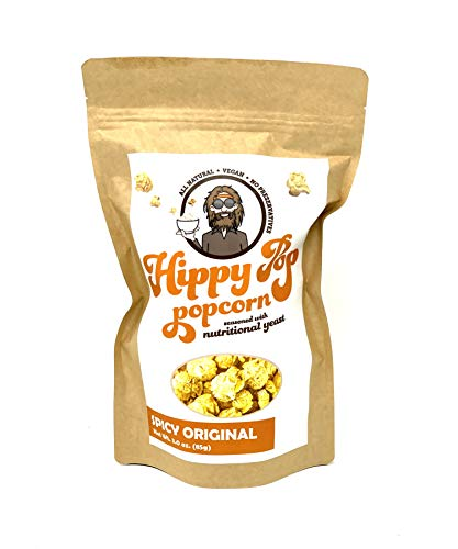 Best Deals! HIPPY POP - Spicy Original (3 oz) - Vegan, Non-GMO, Made with Nutritional Yeast (Case of...