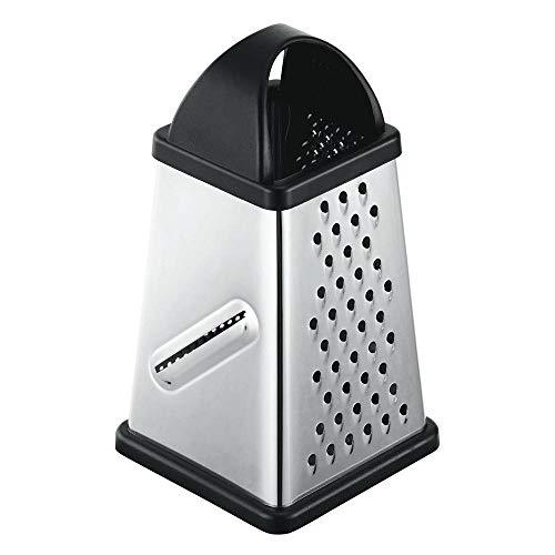 Stainless Steel Four-Sided Cheese Grater | Box Grater & zester with Comfortable Non-Slip Handle | Dishwasher Safe | from Jean Patrique