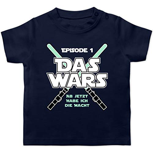 Zur Geburt - Das Wars Jetzt Habe ich die Macht Junge - 3/6 Monate - Navy Blau - Kleidung Baby 1 Monat Junge - BZ02 - Baby T-Shirt Kurzarm