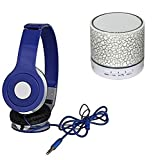 Drumstone Mini Wireless LED Bluetooth Speaker with Mega Bass Wired Headphone for iPhone