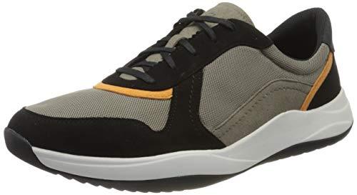 Clarks Herren Sift Speed Sneaker Niedrig, Beige (Sage Combi Sage Combi), 39.5 EU