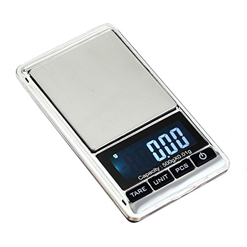 TBBSC Jewelry Scale,Reloading Weighing, High, Precision Digital Pocket Scale (Silver-500g/0.01g)