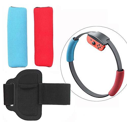 Susmile Joy-Con ハンドル Ring Fit Adventure レッグバンド 調整可能+用 リンググリップ 手汗 交換用 リン...