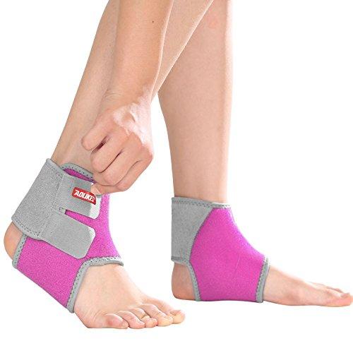 Tobillera compresión transpirable velcro con banda elástica proteger los pies aliviar el dolor durante práctica deportes como danza el baloncesto para niños niñas