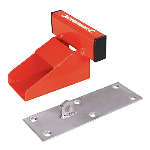 Silverline 538487 Serrure Anti-Soulèvement pour Porte de Garage, Rouge, 150mm Taille