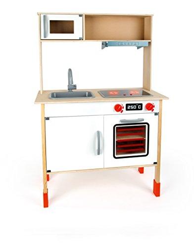 Small Foot 10749 Kinderküche modern aus Holz mit umfassender Ausstattung, Rollenspielzeug für Kinder ab 3 Jahren