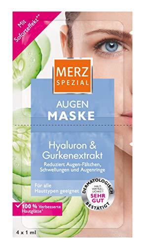 Merz Spezial Augen Maske – Augenpflege mit Gurkenextrakt & Hyaluronsäure – Vermindert Fältchen und Augenringe – 4 x 1ml