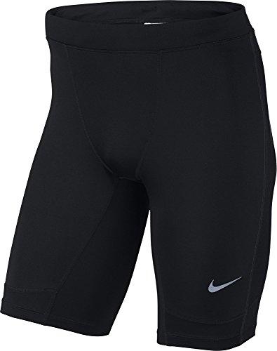 Nike Herren Hose Dri Fit Essential Half Tights, Black/Reflective Silv, S