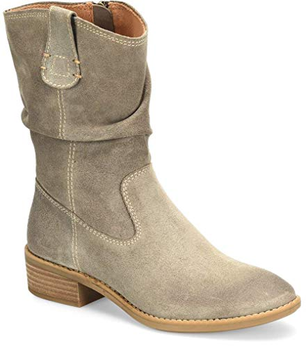 Comfortiva Chrysta Waterproof Pietra Grey Cow Suede Waterproof 9 M (B)