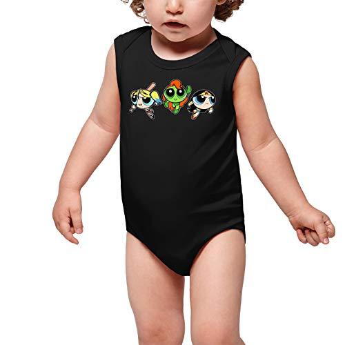 Okiwoki Body bébé Noir Super Nanas - Comics Heroines parodique Bulle, Belle et Rebelle en Mode Harley Quinn, Poison Ivy et Wonderwoman : Les Super Girls ! (Parodie Super Nanas - Comics Heroines)