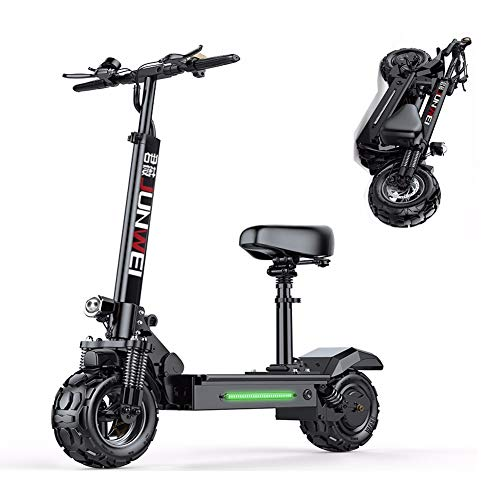 ZHHL Electric Scooter Plegable, Patinete Eléctrico para Adultos, 500w Motor, Velocidad Máx...