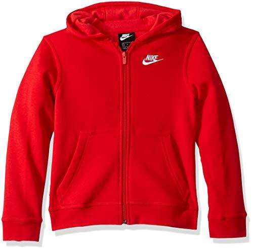 Nike B NSW Hoodie FZ Club Sudadera, Niños, University Red/University Red/(White), M