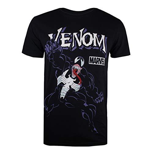 Marvel Venom Attack Camiseta, Negro (Black Blk), Small (Talla del Fabricante: Small)...