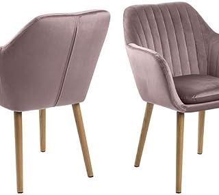 AC Design Furniture Sillón Rosa, Rosa Polvorienta, 57 x 61 x 83 cm