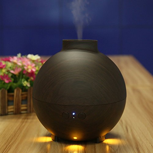 Aromatherapy Essential Oil Diffuser, NexGadget 600ml Wood Grain Cool Mist Aroma Oil Diffuser with Warm Color, Whisper-Quiet, Waterless Auto Shut-Off and Mist Mode Adjustment for Home, Office