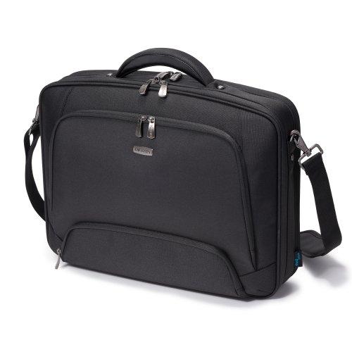 Dicota Multi 13–15,6 Zoll PRO Umhängetasche für Laptop, Computer & Tablet, Leichtgewichtige Aufklappbare Clamshell-Laptoptasche, Schwarz