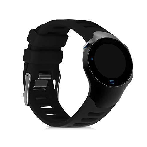 kwmobile Pulsera Compatible con Garmin Forerunner 610 - Brazalete de Silicona en Negro sin Fitness Tracker