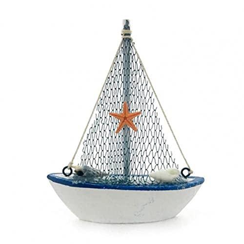 Diseño náutico moda mini velero modelo decoración madera vela barco estatua ecológica para sala de estar